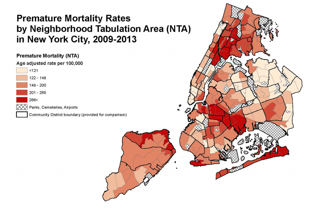 Source: NYC DOHMH Bureau of Vital Statistics; NYC Planning Population Estimates Adapted from the American Community Survey 2009-2013.